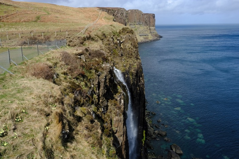 The Kilt Rock Waterfall - not quite as impressive as expected!