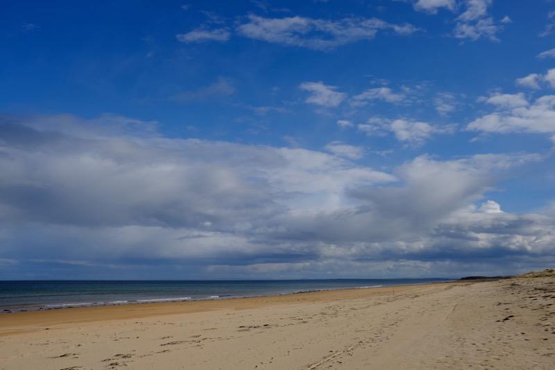 Deserted beach at Brora