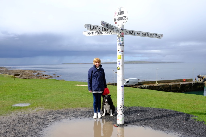 Obligatory photo of Annie & Jack posing at the signpost