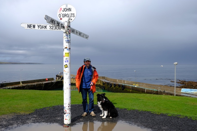 Obligatory photo of Andy & Jack posing at the signpost