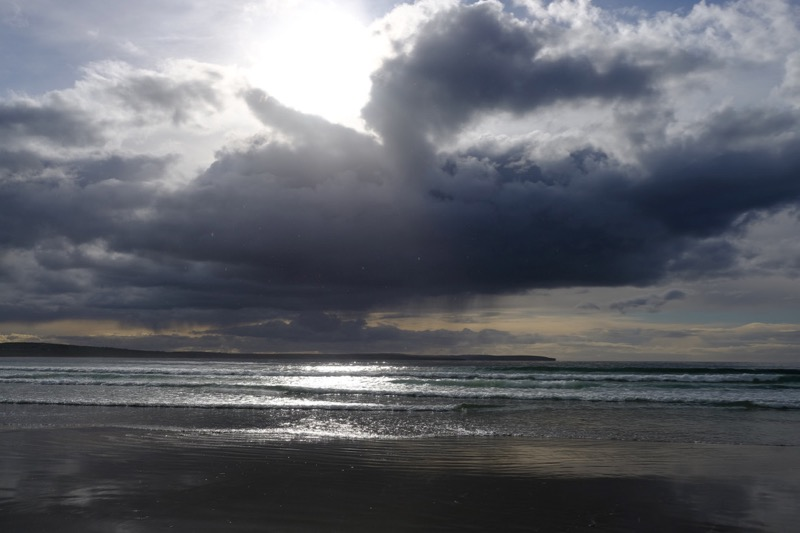 Stormclouds approaching over Dunnet Bay