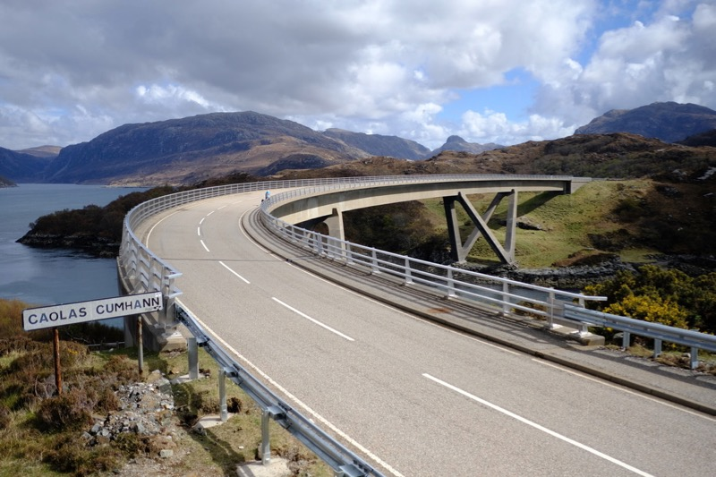 The iconic Kylesku Bridge