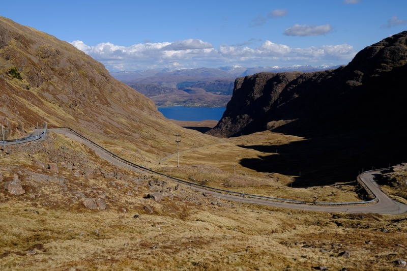 Looking towards Tornapress from about halfway down Bealach na Ba